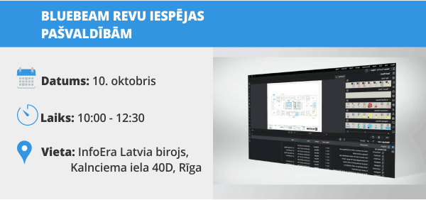 InfoEra Latvia Bluebeam Revu seminars