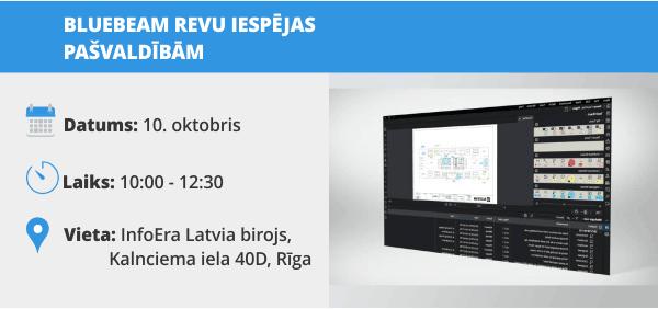 InfoEra Latvia Bluebeam Revu seminars